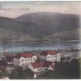 #2031- Romania, Orsova, c.p. 1904, circulata 1907: Fabrica vapoare, Fotografie
