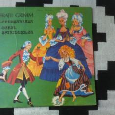 Fratii grimm cenusareasa darul spiridusilor povesti basme copii disc vinyl lp - Muzica pentru copii electrecord, VINIL