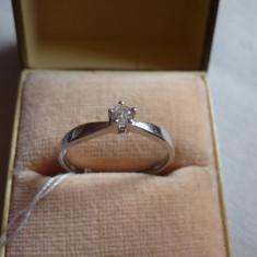 LICHIDEZ COLECTIE- INEL CU BRILIANT - Inel diamant, Carataj aur: 18k, Culoare: Alb