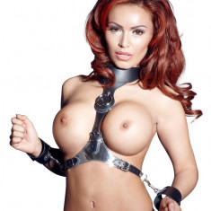 Leather Cuffs and Collar SM - BDSM