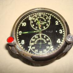 Ceas militar rusesc/sovietic/aviatie/ cronograph, anii '60-'80 POLJOT/URSS/MIG