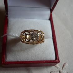 LICHIDEZ COLECTIE- INEL ANTIC CU DIAMANT - Inel diamant, Carataj aur: 14k, Culoare: Alb