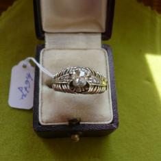 LICHIDEZ COLECTIE- INEL ANTIC CU DIAMANTE - Inel diamant, Carataj aur: 14k, Culoare: Alb