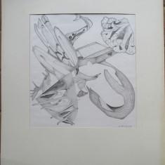 Grafica abstracta 2 - semnat  B.van Loocke