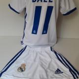 Echipament sportiv fotbal copii Real Madrid Bale model nou - Set echipament fotbal, Marime: Alta