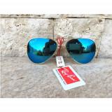 Ochelari De Soare Ray Ban  Aviator Oglinda 3 Polarizati  +Toc +Saculet+  Laveta