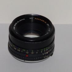 Obiectiv Minolta MC Rokkor-x PF 50mm F1.7 - Minolta MD - Made in Japan - Obiectiv DSLR