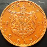 """Moneda 2 Bani - ROMANIA, anul 1900 *cod 2744 EROARE BATERE: PERLE+LITERE """"A"""" - Moneda Romania"""