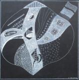 Grafica abstracta 3 - semnat  B.van Loocke, Abstract, Carbune