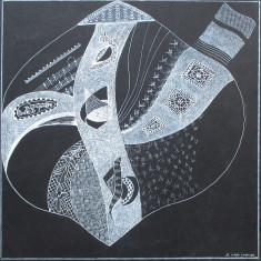 Grafica abstracta 3 - semnat  B.van Loocke