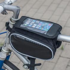 Borseta Forever pentru bicicleta, doua buzunare si husa pentru telefonul smart