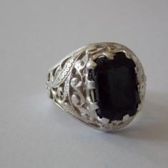 Inel argint cu onix vintage -2071