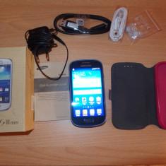 Samsung Galaxy S3 Mini GT-I8200 pachet FULL, liber de retea - Telefon mobil Samsung Galaxy S3 Mini, Albastru, 8GB, Neblocat