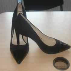 Pantofi Zara noi, nefolosiți, din piele naturală! - Pantof dama Zara, Culoare: Negru, Marime: 41