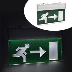 Panou LED cu acumulator, semn EXIT dreapta