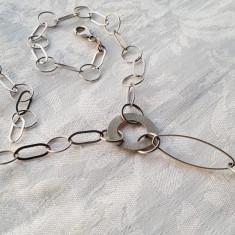 Colier argint IMPECABIL cu medalion Retro SPLENDID superb Elegant de Efect