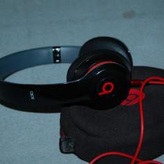Casti original BEATS SOLO Monster Beats by Dr. Dre, Casti On Ear, Cu fir, Mufa 3, 5mm