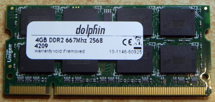 Memorie RAM DDR2 PC2 4Gb laptop Notebook RAM Dolphin 1x4gb 667mhz SODIMM foto mare