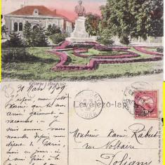 Baia Mare -Statuia, Parcul -rara - Carte Postala Maramures pana la 1904, Circulata, Printata