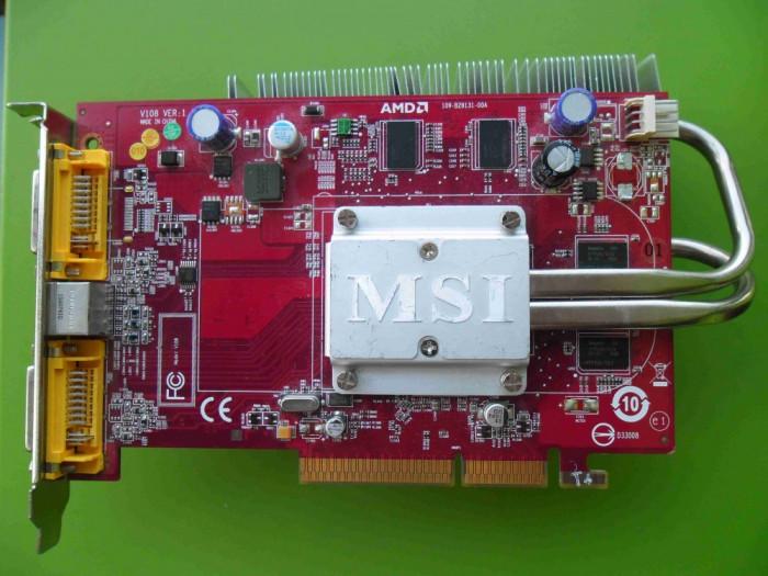 Placa Video MSI Ati Radeon HD 2600 PRO 256MB 128biti AGP - DEFECTA