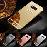 Cumpara ieftin Husa / Bumper aluminiu + spate acril oglinda pentru Samsung Galaxy S8 / Note 8, Auriu