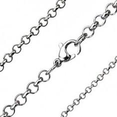 Lanț simplu din oțel - ochiuri rotunde, diferite grosimi - Lantisor inox