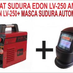 PACHET PROMOTIONAL. INVERTOR. Aparat de sudura Edon LV-250 + MASCA HELIOMATA - Invertor sudura