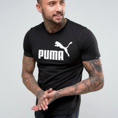 Tricou Puma Ess. No 1 Negru - Anglia - Bumbac - Marimi S, M, L - Detalii in anunt - Tricou barbati Puma, Fara maneca