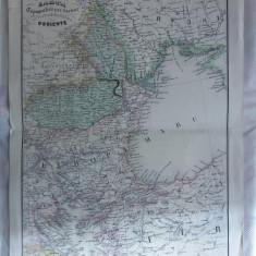 HARTA EUROPA, ROMANIA- VALAHIA,1870