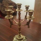 Frumos SFESNIC 5 focuri din bronz H 36 cm