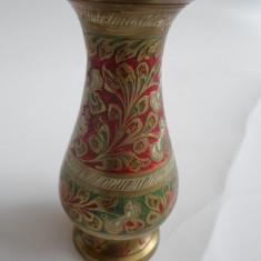 Vaza alama, cu email, lucrata manual, India, marcata -C8 - Arta din Asia