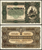 UNGARIA BANCNOTA DE 20 KORONA COROANE 1920 NECIRCULATA UNC