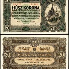 UNGARIA BANCNOTA DE 20 KORONA COROANE 1920 NECIRCULATA UNC - bancnota europa