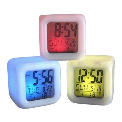 Ceas Cub Multicolor cu Calendar , Termometru si Alarma foto