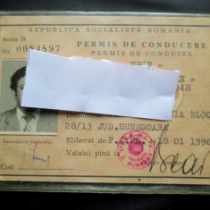 Varianta rara ! Carnet / Permis de conducere Auto din Ianuarie 1990 - Pasaport/Document, Romania de la 1950