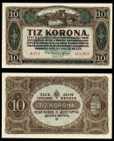 UNGARIA BANCNOTA DE 10 KORONA COROANE 1920 NECIRCULATA UNC