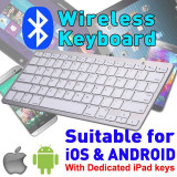 Tastatura BK3001 Wireless Bluetooth Pentru Telefon, Tableta sau Tv