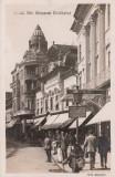 ARAD  STR. GENERAL BERTHELOT  CU HOTEL CRUCEA ALBA SI BANCA INDUSTRIALA POPULARA, Necirculata, Fotografie