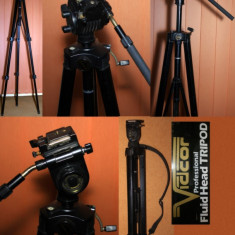 Trepied video foto VIDCOR FLUID HEAD Professional. Made in USA.