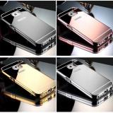 Bumper Samsung Galaxy S4 i9500 Aluminiu Mirror Black, Negru