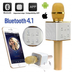 Microfon wireless sistem karaoke profesional cu boxe si bluetooth - Echipament DJ