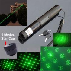Laser Verde Multi Image cu Punct si Cap 3D 6 Imagini - Laser pointer