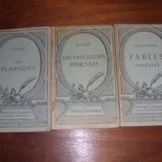 LOT DE TREI CARTI ALE UNOR CLASICI FRANCEZI ( editii vechi ) * - Carte veche