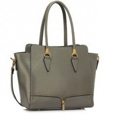 L&S Fashion LS00456 geanta pe umar gri - Geanta Dama, Geanta de umar