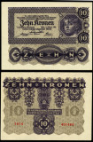 AUSTRIA 10 KRONEN COROANE 1922 PERFECT UNC