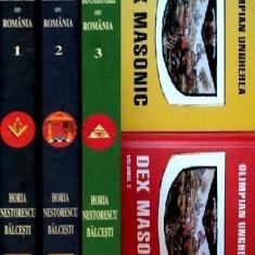 Enciclopedia Ilustrata a Francmasoneriei din Romania + DEX Masonic (5 volume) - Carte masonerie