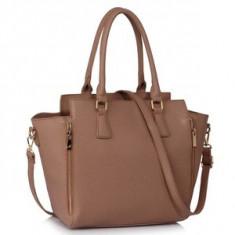 L&S Fashion LS00314A geanta pe umar gri-maro - Geanta Dama, Geanta de umar