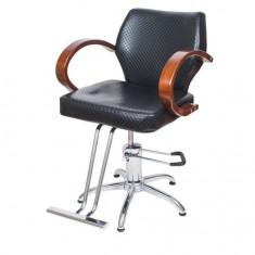Scaun frizerie reglabil pe inaltime cu suport pentru picioare