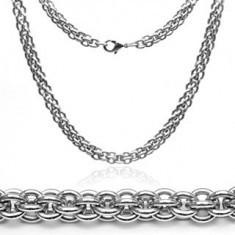Lanț din oțel inoxidabil - masiv, zale duble - Lantisor inox