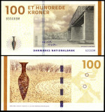 a096 DANEMARCA 100 KRONER COROANE 2009 PERFECT UNC